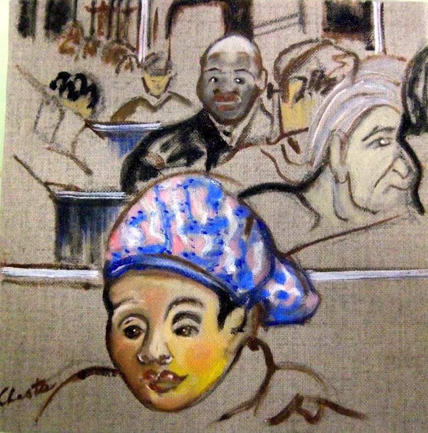 il y a des gens gris et ternes dans le métro et de jolies surprises en couleurs