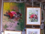 sous les rhododendrons, aquarelle, 40x50 2016