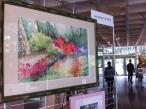 Le massif rouge orangé, aquarelle, 56x75, 2004