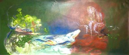 Alligator 1 2014 acrylique sur toile